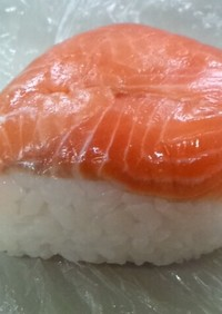 俺流!サーモントラウトの鱒寿司風おにぎり