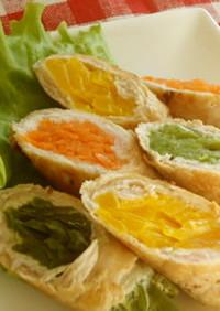 カラフル野菜の肉巻き♪お弁当にもグ〜♡