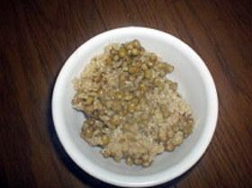 緑豆玄米ご飯