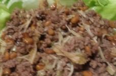 納豆のレタス巻き