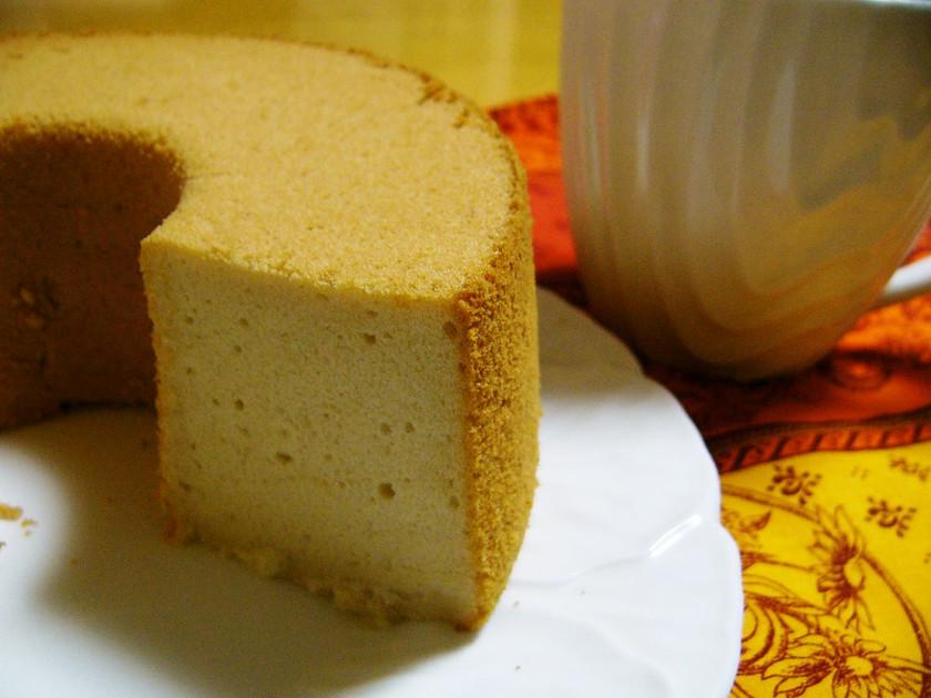米粉の★リンゴジュースでシフォンケーキ