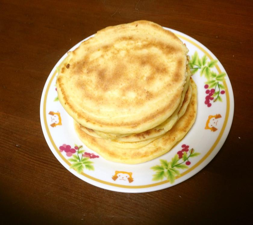 絹豆腐と米粉のパンケーキ
