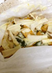 チーズonカボチャの包み蒸し