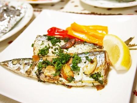秋刀魚のガーリックソテー