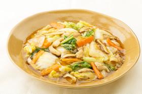 白菜と豚肉のとろみ炒め