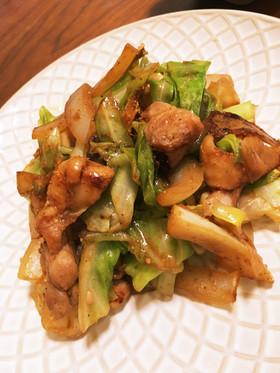 1位感謝♡鶏ちゃん*鶏とキャベツ味噌炒め