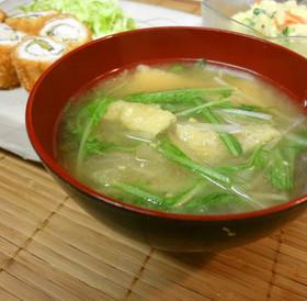 *水菜と油揚げの味噌汁*