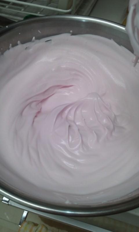 カキ氷シロップで☆ホイップクリーム