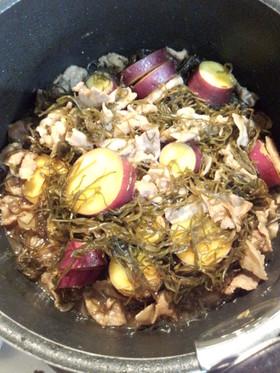 サツマイモと刻み昆布の煮物