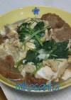 ❈豆腐と油麩の卵とじ❈