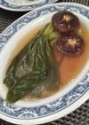 チンゲン菜と椎茸の中華風煮込みスープ♪