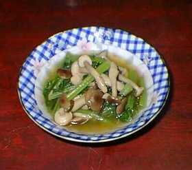 小松菜とふじっこ&しめじの煮物