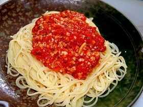 五戸水産イカそぼろ入り冷製トマトパスタ