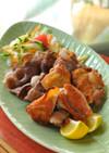 ヘルシー!カリカリ鶏肉&豚肉の塩焼サラダ