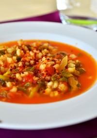 トルコ家庭料理☆スベリヒユと麦のトマト煮