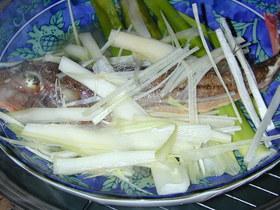 白身魚の酒蒸(中華風)