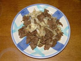簡単5分、牛肉とキャベツの炒め
