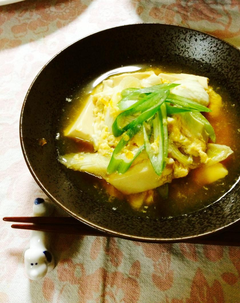 ✿時短で♬豆腐の簡単卵とじ煮✿