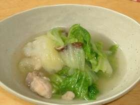 白菜とかぶのあったかスープ