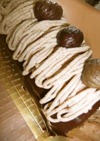 マロン★チョコロールケーキ♪