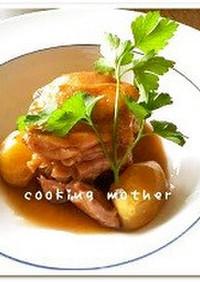 ◆15分で本格「栗と鶏肉の煮込み」