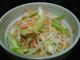 細切り野菜と鶏のサラダ