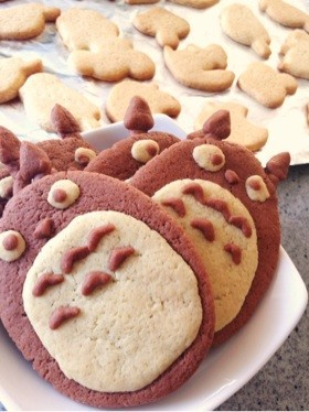 ♡HMと家にある材料でトトロのクッキー♡