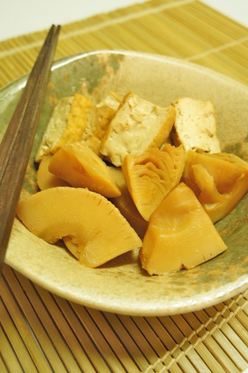 ほっこりする味♪竹の子と厚揚げの煮物