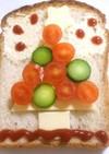 カラフル☆クリスマスツリー☆パン