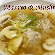マッシュルームのつみれスープ♪