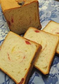 いちご&ホワイトチョコ食パン