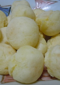 ジャガイモでポンデケージョ風もちもちパン