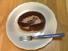 ピュアココアで!チョコ☆ロールケーキ