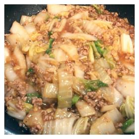 白菜と生姜の豚挽肉あんかけ