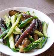 冷やしなすときゅうりの中華風サラダの写真
