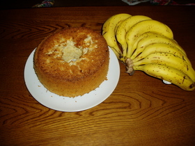 バナナのシフォンケーキ