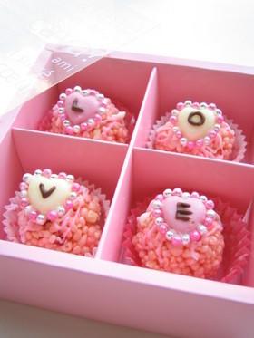 バレンタイン★ピンクのライスクリスピー