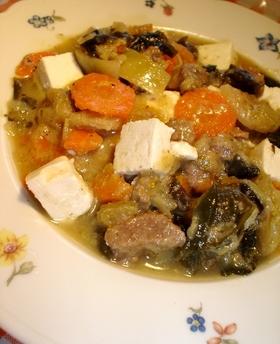 ボリュームたっぷり味噌汁スープ