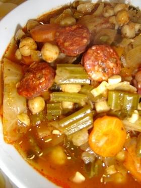 圧力鍋でひよこ豆のトマトソース煮込み