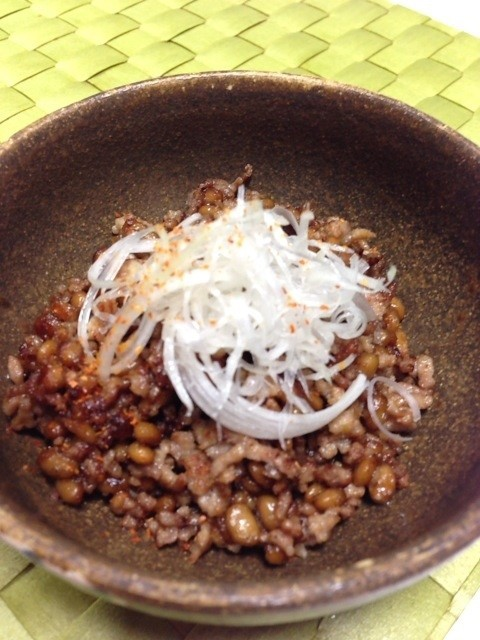 【ご飯のお供】ひき肉納豆