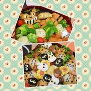 運動会弁当☆トトロ&ネコバス☆キャラ弁の写真