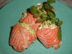鮭のけんちん包み焼き