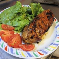 加美良ステーキ(鶏むね肉のニラ包み焼き)