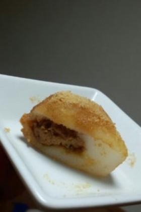 ピーナッツバターで白玉団子(≧∇≦*)