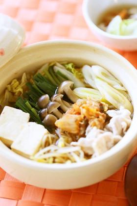 ピリ辛でポカポカ❈キムチチゲ鍋