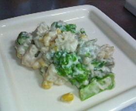 マカロニと菜の花のクリーム煮