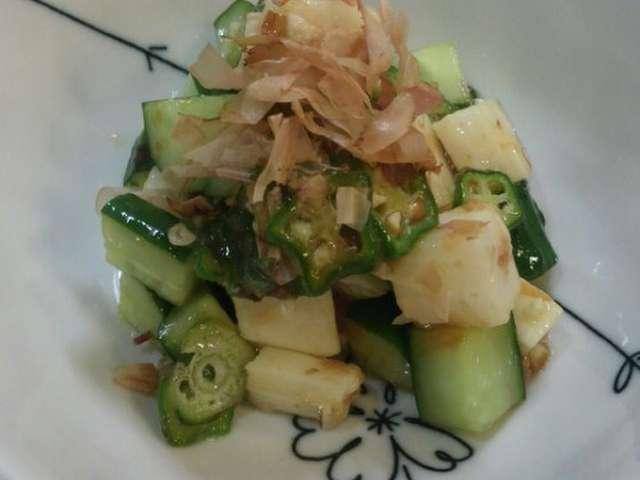 簡単☆きゅうりとオクラと長芋のサラダ