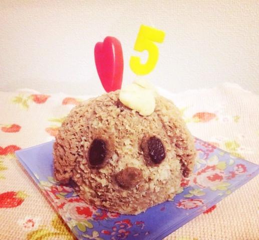 犬用 ヘルシーお誕生日ケーキ♪