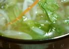 ☆ウェイパーとこしょうのレタススープ☆