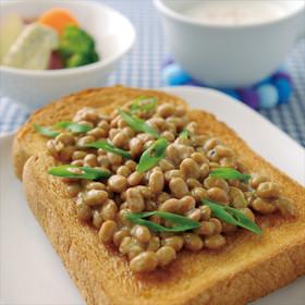納豆しょうがトースト